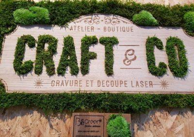 Enseigne végétalisée – Craft & Co