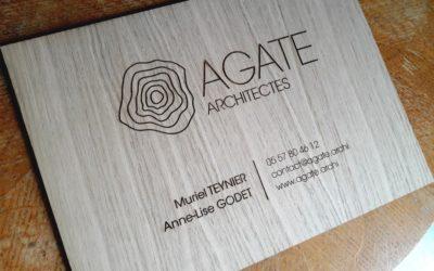 Plaque professionnelle pour AGATE ARCHITECTES