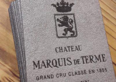 Château Marquis de Terme – Étiquette en cuir