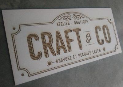 Enseigne en carton – Craft & Co