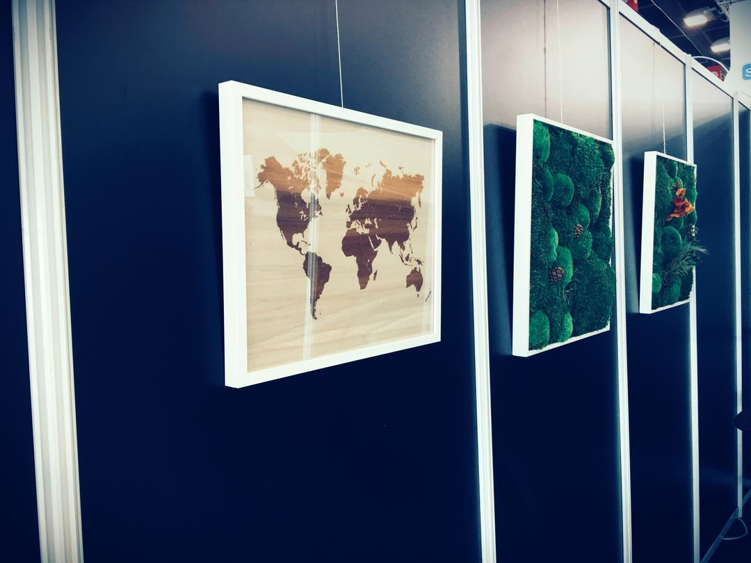 Mappemonde gravure sur bois laser impression collection Craft & Co