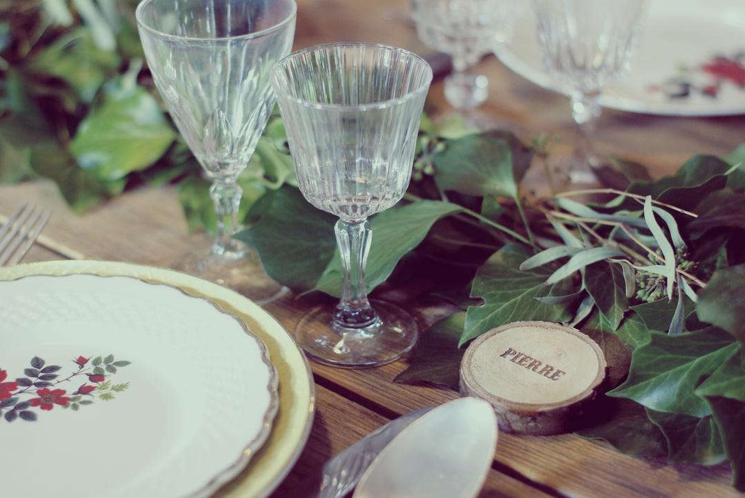Marque Place prénom mariage rondin de bois gravure laser Craft & Co