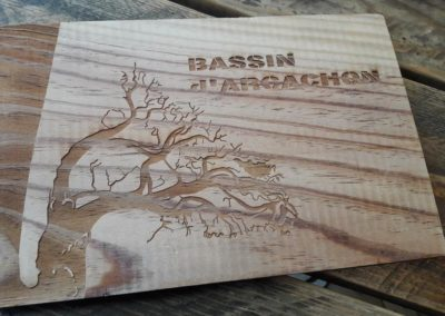 Chenaux et côtes Bassin Arcachon – Gravure bois