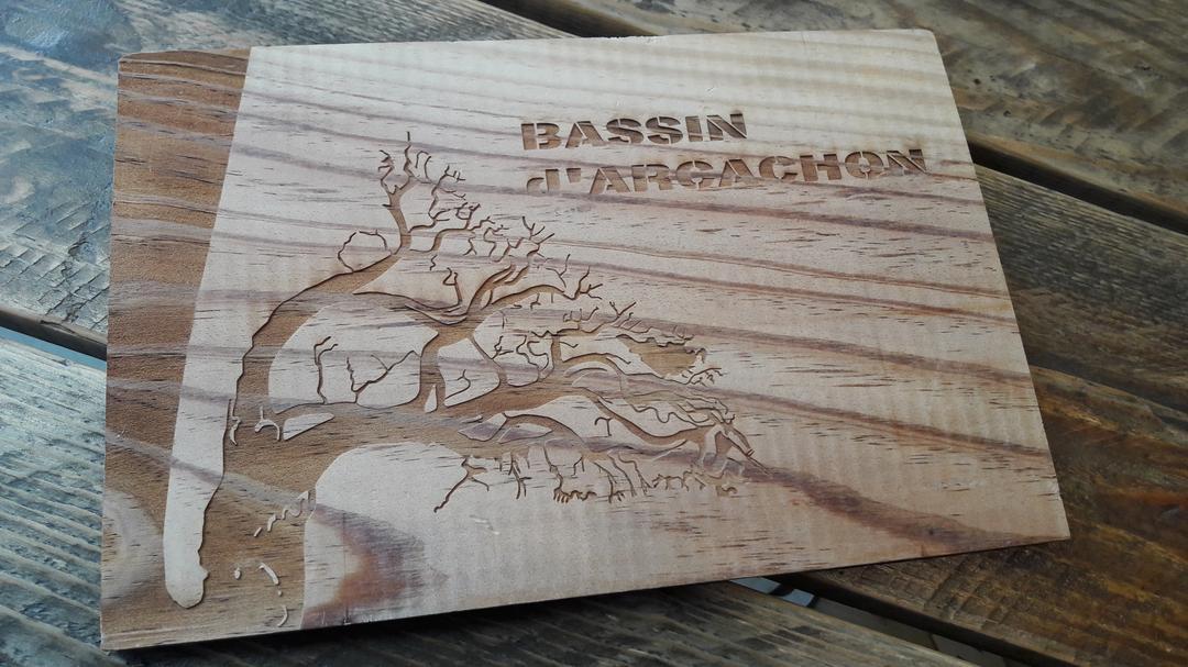 chenaux et c tes bassin arcachon gravure bois craft co. Black Bedroom Furniture Sets. Home Design Ideas