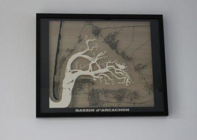 Bassin Arcachon + chenaux – Découpe papier
