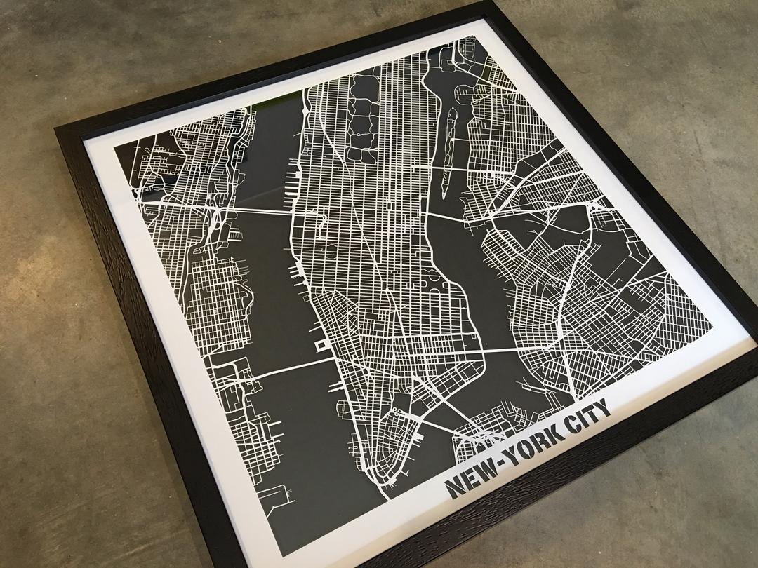 Plan de New-York découpe laser papier collection Craft & Co