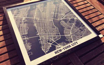 New-york – Carte «Hit the Road» en découpe papier by Craft & Co