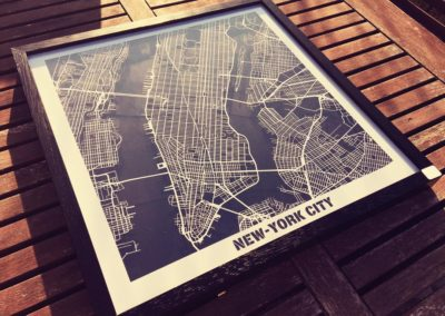 New-York – découpe papier