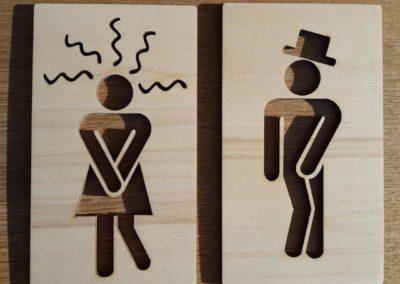 Plaques toilettes