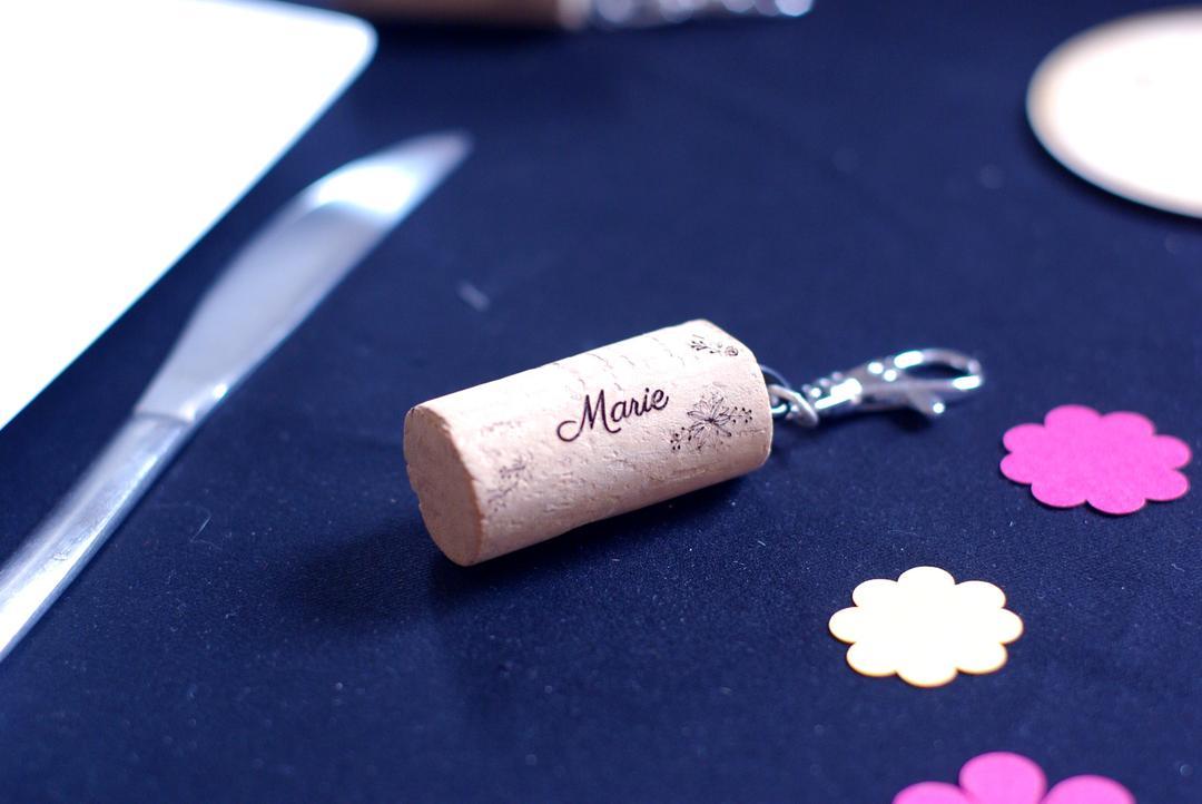 Porte clés personnalisés mariage gravure et découpe laser collection Craft & Co