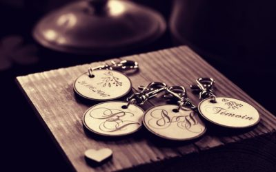 Porte-clés en bois pour vos cadeaux d'affaires et évènements