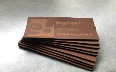 Étiquettes d'identification de marque en cuir pour Eugène!