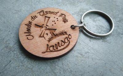 Porte-clés pour le Moulin de Lansac