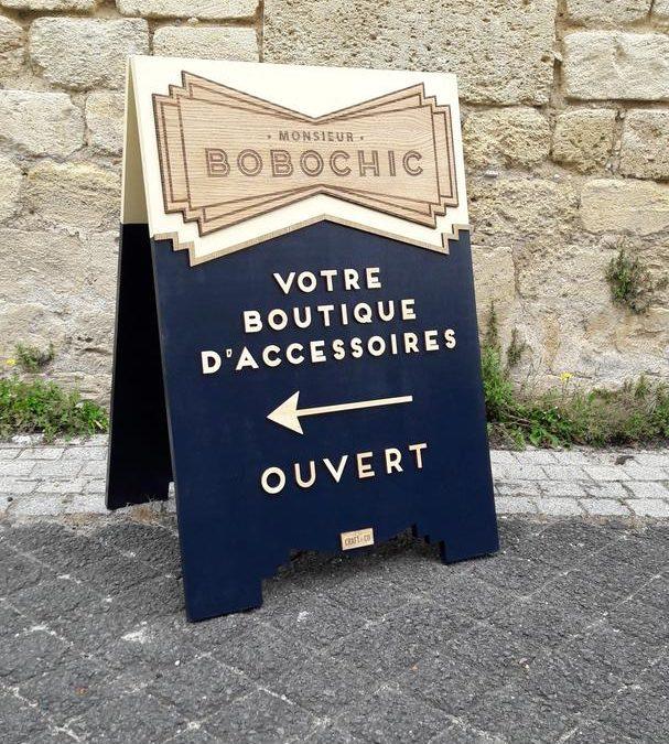 Stop-trottoir pour la boutique Monsieur Bobochic