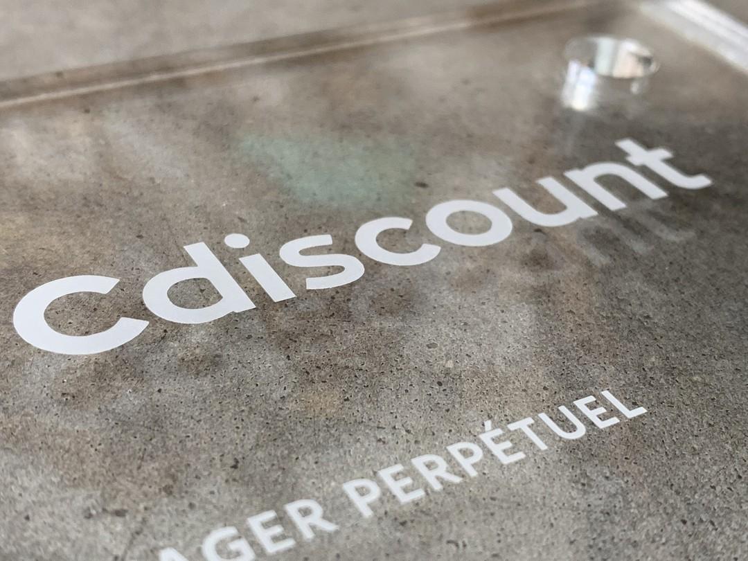 Plaque panneaux signalétiques gravée par laser pour jardin extérieur ecosysteme Cdiscount et akebia en acrylique