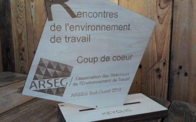 Trophées en bois pour les Rencontres de l'Environnement de travail de l'ARSEG