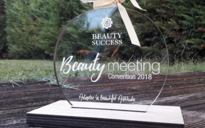 Trophées bois et plexiglass pour la convention Beauty Success 2018