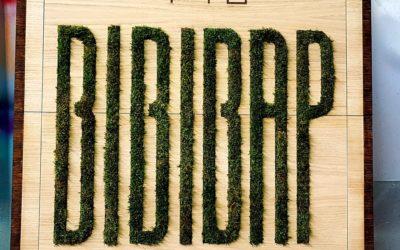 Logo végétalisé pour la décoration du restaurant Bibibap