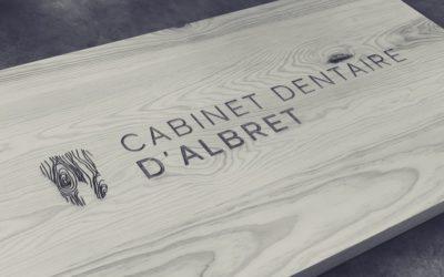 Enseigne intérieure pour le cabinet dentaire d'Albret