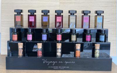 Présentoir sur-mesure pour La Closerie des Parfums