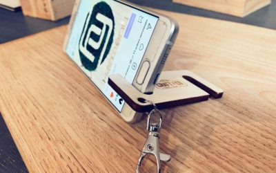 Porte-clés support de téléphone