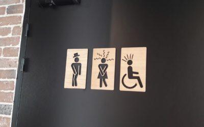 Plaques signalétiques pour les toilettes – Gram Gust
