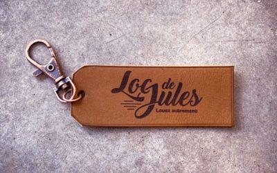 Porte-clés en cuir pour le loueur automobile Loc de Jules