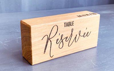Supports de table «Réservée» pour le restaurant italien Monzù