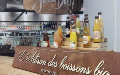 Signalétique de stand pour la Maison Meneau – Artisan des boissons bio