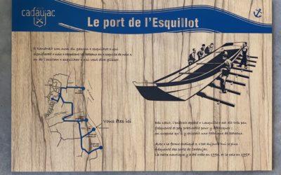 Signalétique extérieure pour baliser la promenade des 4 ports et du château pour la Commune de Cadaujac