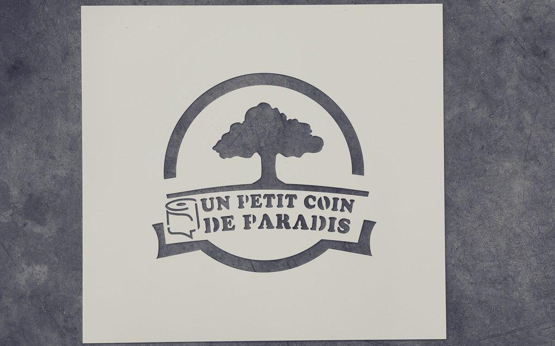 Pochoirs réutilisables en acrylique pour Un Petit Coin de Paradis