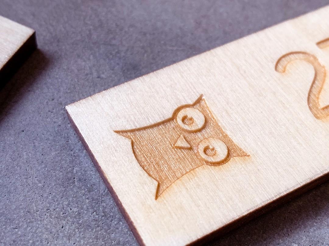 Porte-clés en peuplier gravure decoupe laser VVF village de france sur-mesure