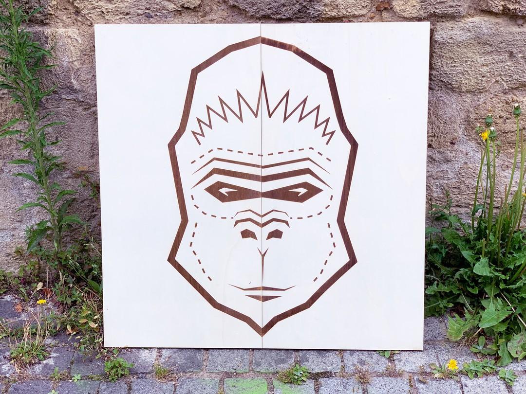 Panneaux décoration jeux dans le cadre du pandathlon gravure et découpe laser de peuplier pour l'organisation non gouvernementale WWF