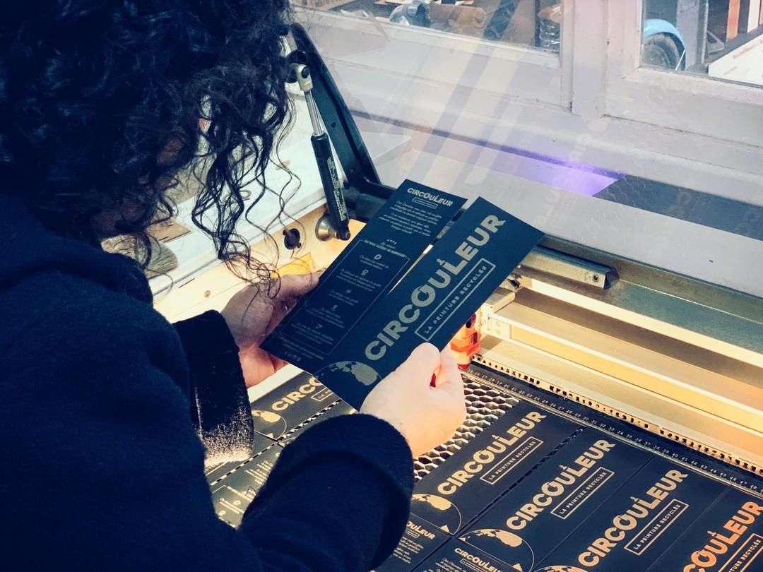 nuancier gravure laser papier peintures recyclées pour circouleur