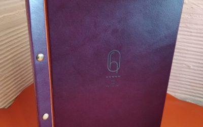 Menus en cuir pour l'Hôtel des Quinconces à Bordeaux