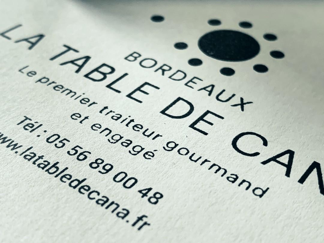 Tampon de grande dimensions pour le marquage de panier repas pour le restaurant La Table de cana gravure et découpe laser de timbres caoutchouc