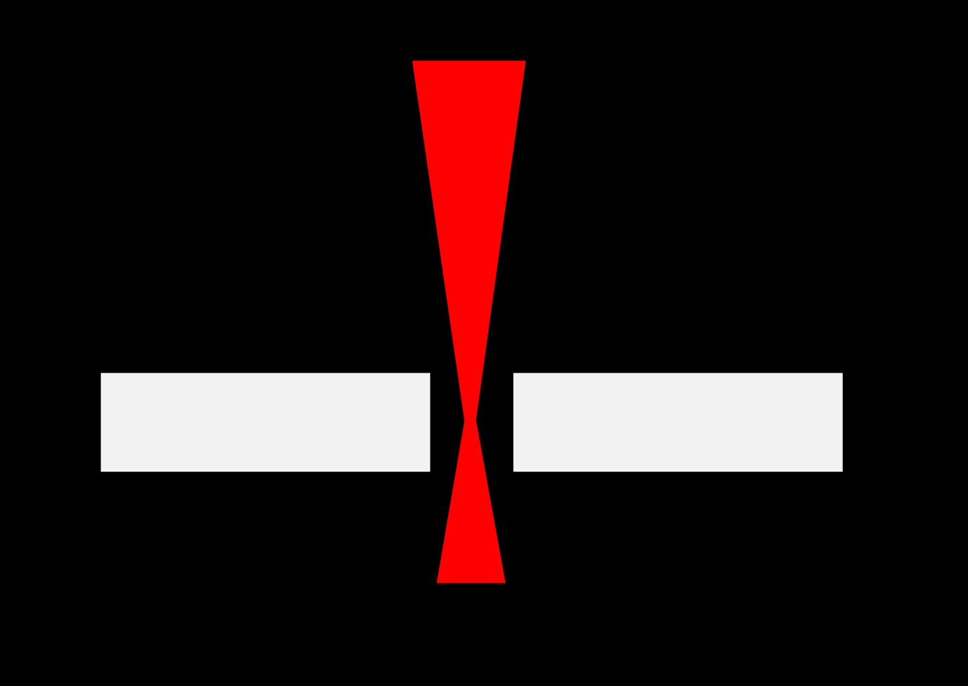 schema de la largeur du kerf laser decoupe